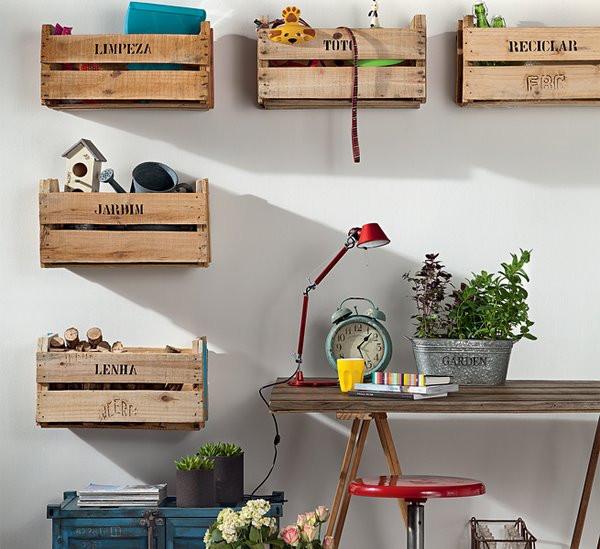 15 dicas de decoração com caixotes de madeira (feira)