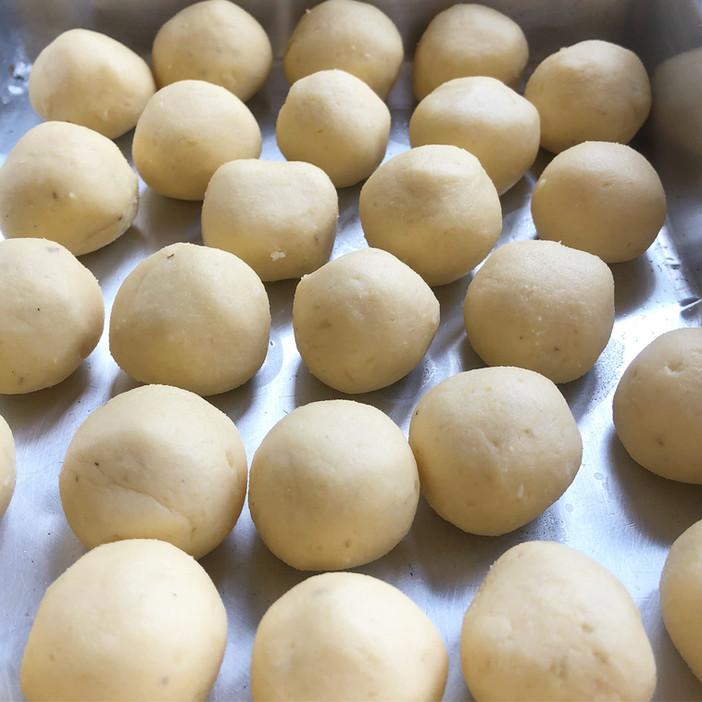 Pão de queijo de inhame/batata doce/mandioquinha/baroa