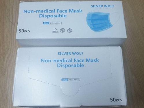 Non-Medical Disposable Face Masks 50 pcs