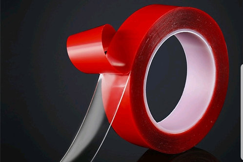 Strong PVC Red transparent double sided tape