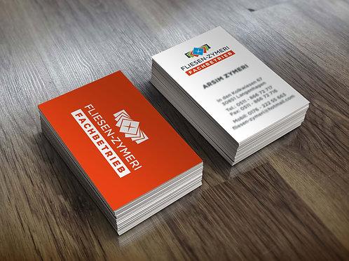 Visitenkarten Design 2-seitig Gestaltung zum Festpreis brutto ab: