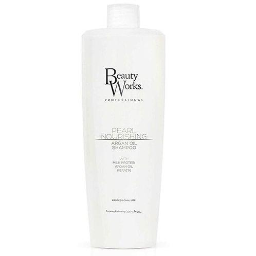 Beauty Works Salon Size Pearl Nourishing Argan Oil Shampoo 1 Litre