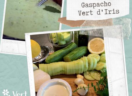 La recette du panier gaspacho Vert d'Iris