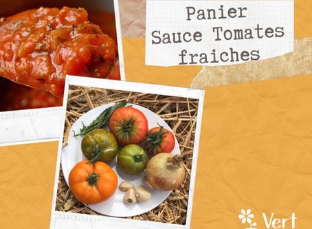La recette du panier sauce tomate fraiche