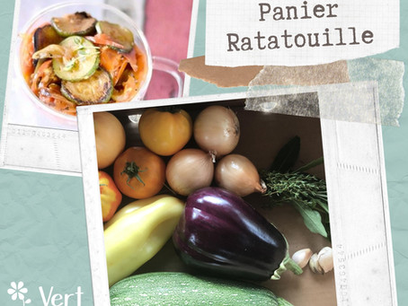 La recette du panier ratatouille