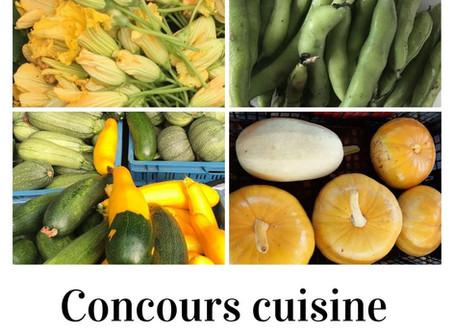 Nouveau : concours cuisine