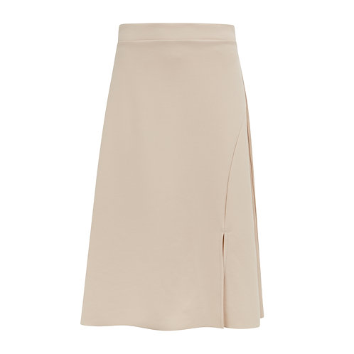 Denver Side Split Skirt - Sand