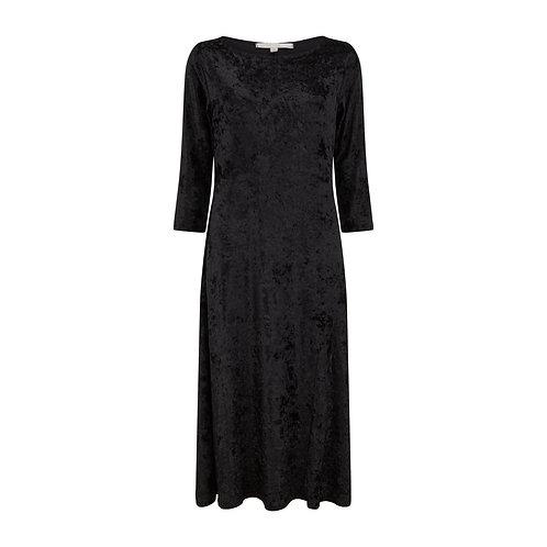 Brisbane Velvet Dress Black