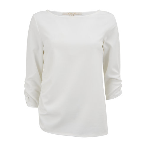 Portland Ruched Top -Ivory