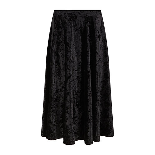 Brisbane Velvet Skirt Black