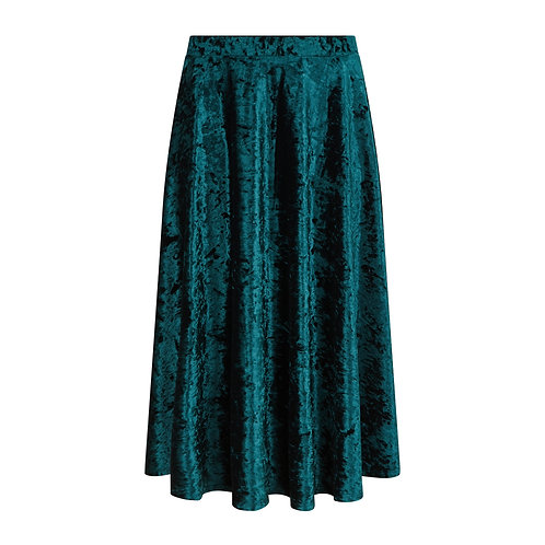 Brisbane Velvet Skirt Green