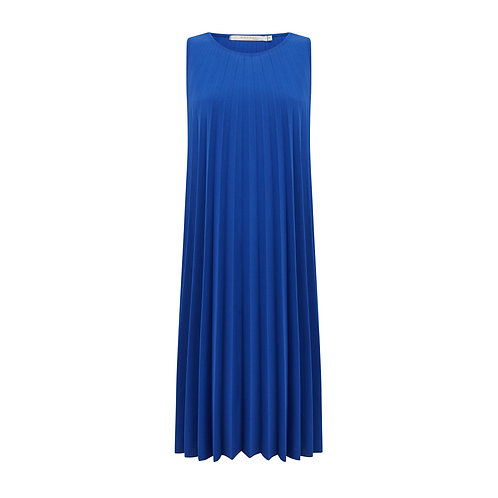 Chicago Pleated Dress - Cobalt