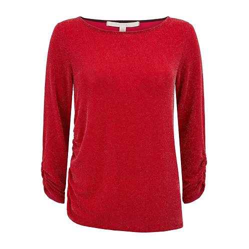 Sydney Ruched Top Red