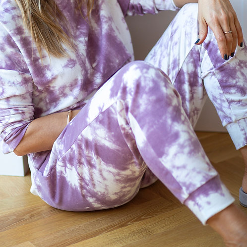 York Tie-Dye Lounge Pants With 2 Side Pockets