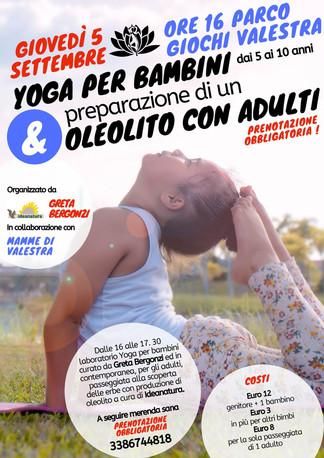 Laboratorio Yoga per bambini e passeggiata erbe