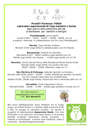 YOGA IN 'APPENNINO REALE'