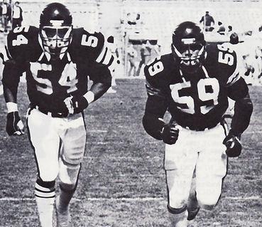 Denver's Neil Hope (54)  &  John Nevens