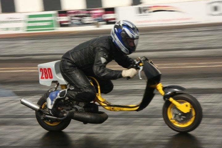Taffspeed Sprinter rider Jon Jo from Newport Wales, Taffspeed RB 250 at Shakespear County with the NSA Southern.