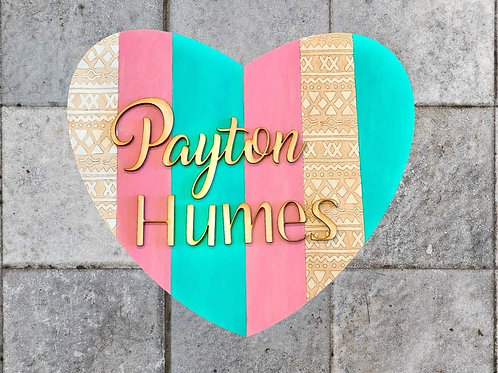 DIY Paint & Sip Personalized Heart