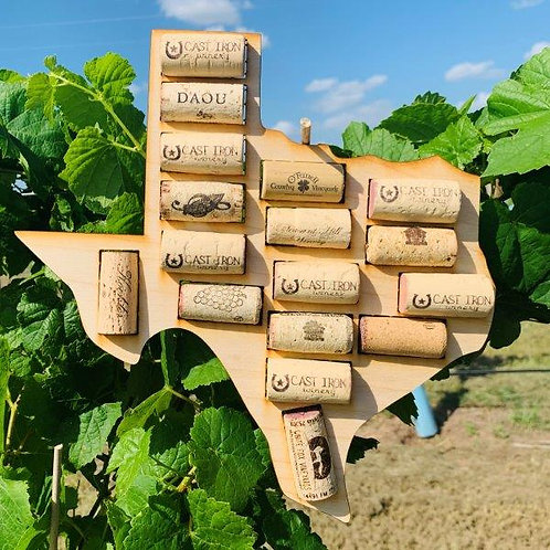 Texas Wall Cork Display