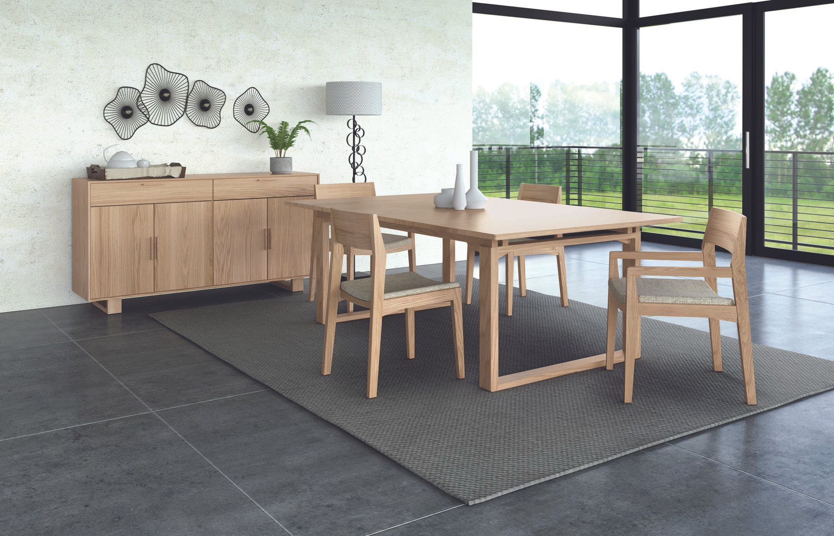 Iso Dining in Natural Oak