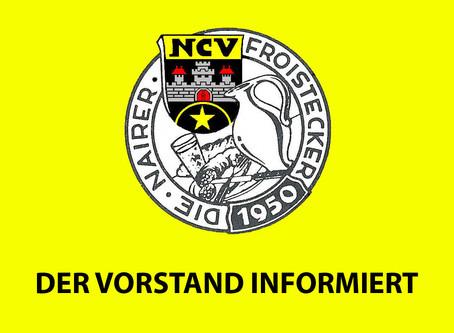 Aktuelle Corona-Information des Vorstandes