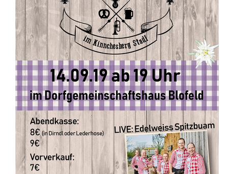 Einladung zum Blofelder Almrausch 2019