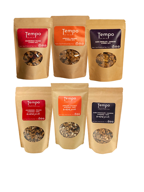 Combo Pack - 3 Breakfast Granola (14oz.) and   3 Granola Clusters (4oz.)