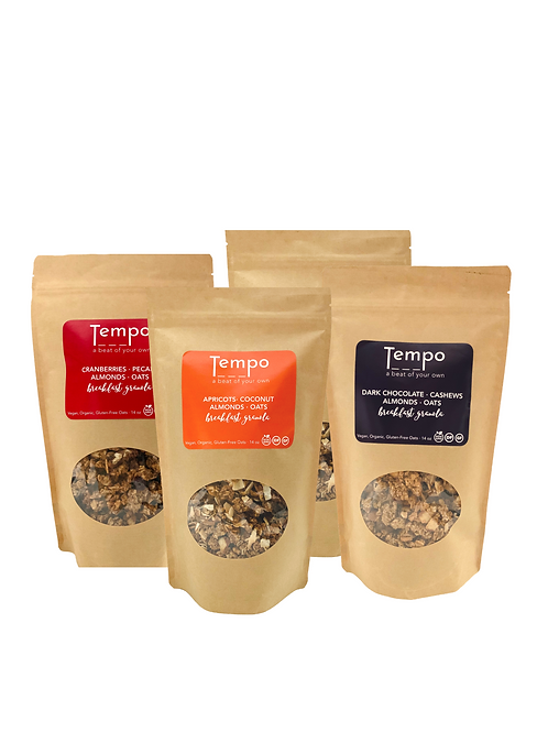 Breakfast Granola (14oz. bags) Mix-and-Match 4 pack