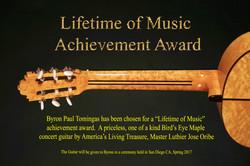 .Lifetime Music Achievement Award