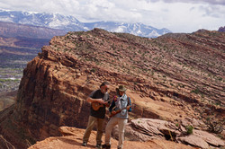Christine & Byron recording in Moab