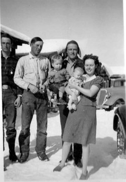 Mom Dad Robby & Henry in 1941