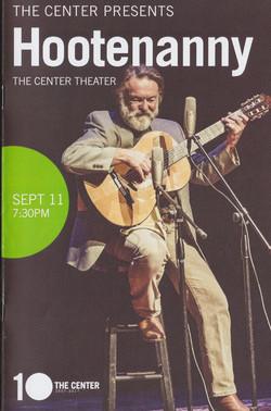 2017 Hoot Center Arts Program cover
