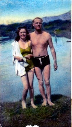 Mom & Dad Swimming