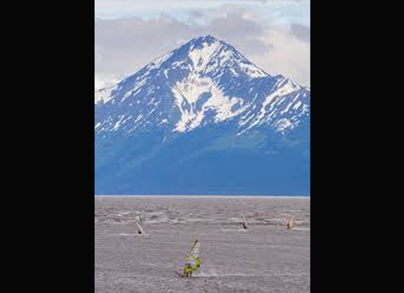 Windsurfing Turnagain Arm