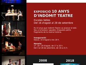 Recorre 10 anys d'Indòmit Teatre!