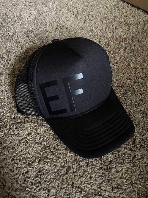 Black EF Trucker Hat