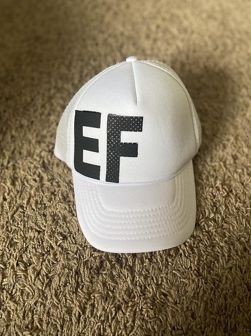 EF White Trucker Hat