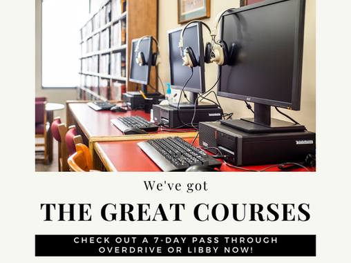 The Great Courses are Available @ WCPL