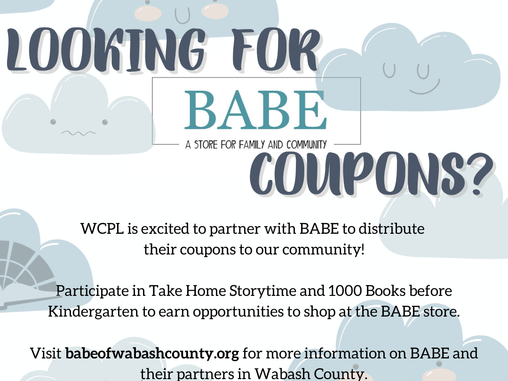 BABE Coupons @ WCPL