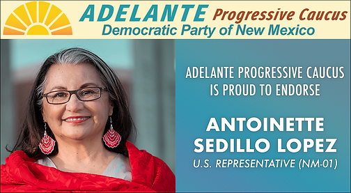 Adelante Progressive Caucus of the Democratic Party of New Mexico Endorsement of Antoinette Sedillo Lopez