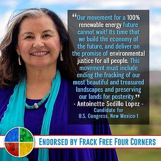 Frack Free Four Corners Endorses Antoinette