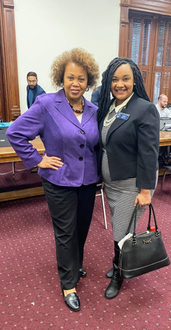 Congresswoman Nikema Williams and Liz Johnson
