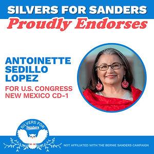 Silvers for Sanders Endorses Antoinette