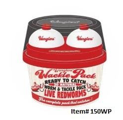 Live Wanglers Wackle Packs Natural Worms with Tackle Topper