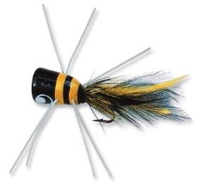 Betts Bass Bug Frog/Black-Yellow Size 1