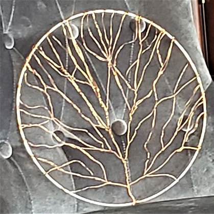 Copper Wire Tree in a Circle