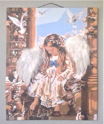 3D Angel portrait     Young Angel with 3D wings