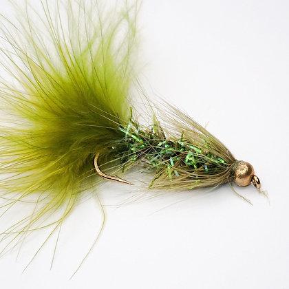 Wooly Bugger Beadhead Cryst/Olive