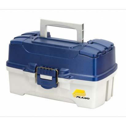 Plano 2-Tray Tackle Box Blue Metallic/Off White